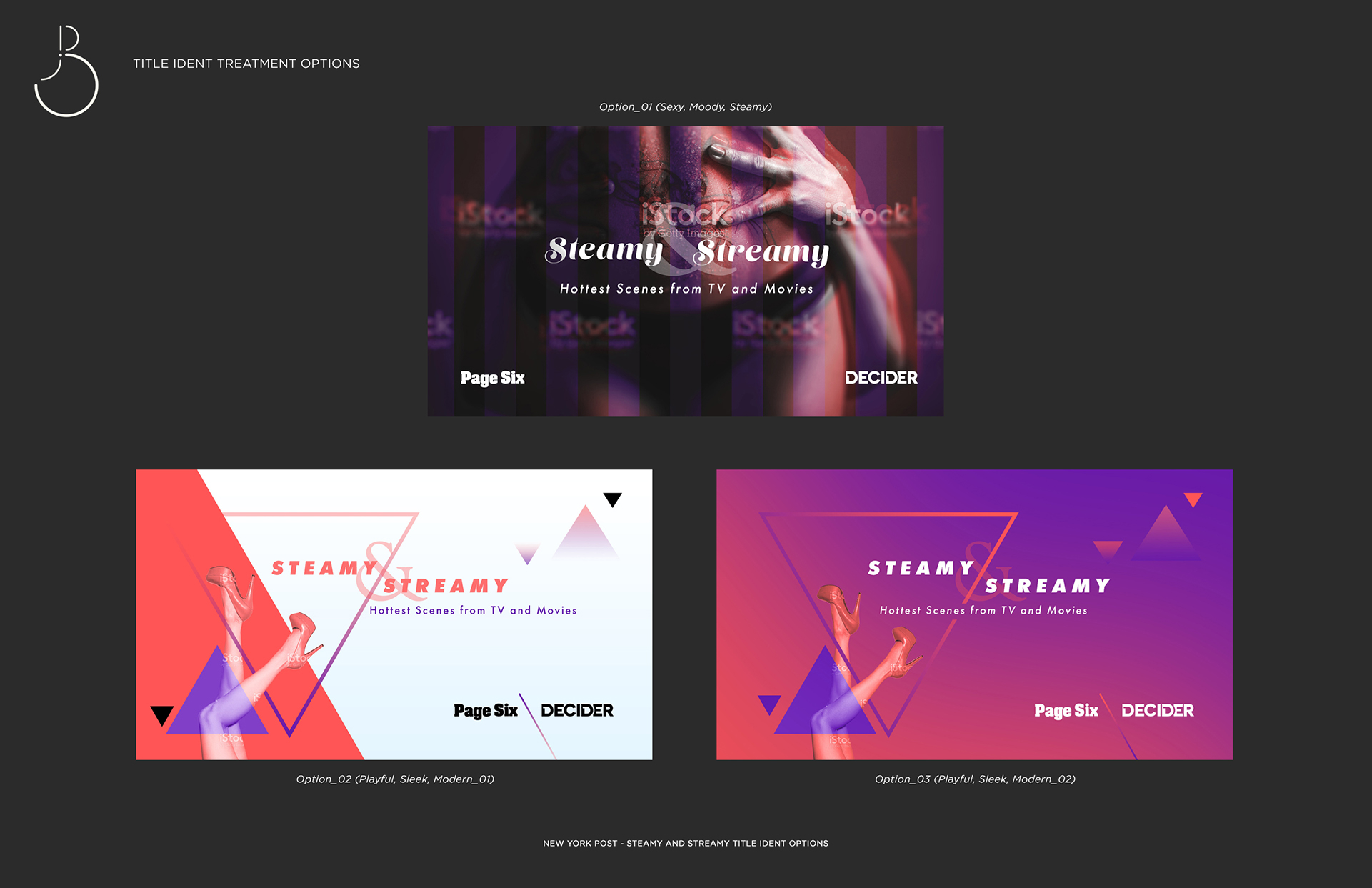Steamy and Streamy Design Options Board Web Site